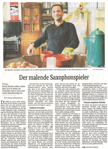 Der malende Saxophonspieler - Sächsische Zeitung 01.01.2010